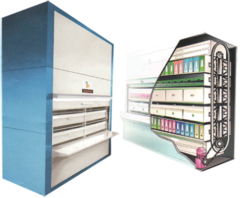 Space magnum : Stomat Document Vertical Carousel Storage Systems